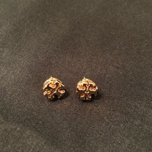 Tory Burch Logo Earrings RoseGold, Great condition